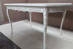 Элитный резной обеденный стол из массива
