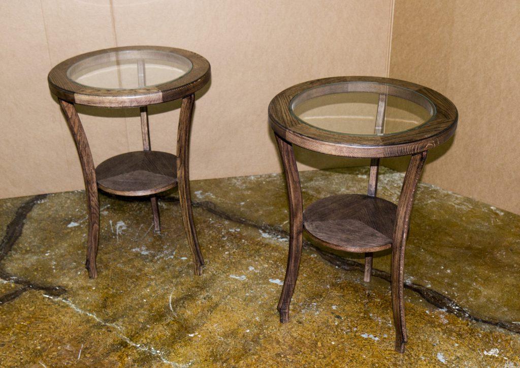 Столики из морёного дуба