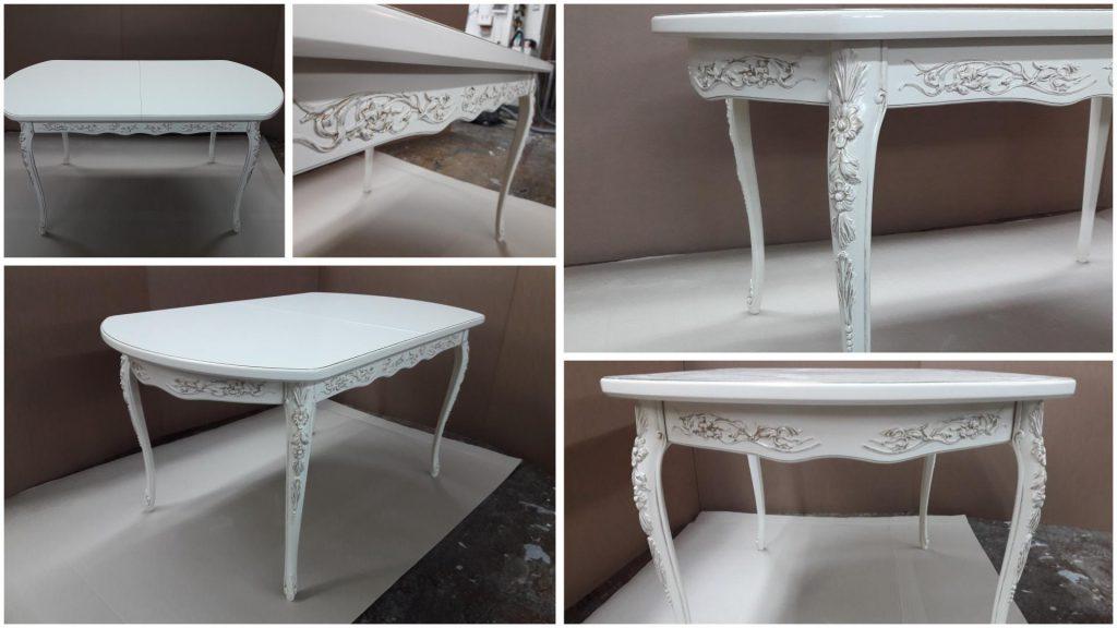 Обеденный стол с резными ножками