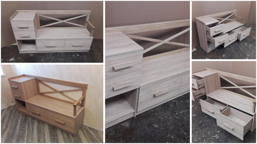 Банкетка с ящиками для прихожей