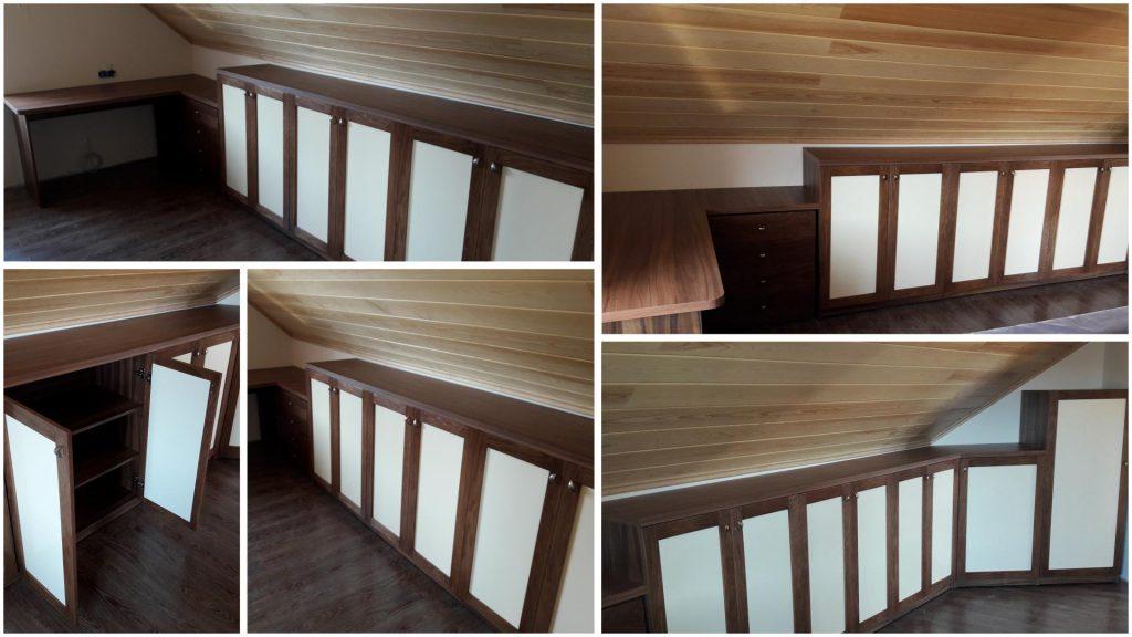 Мебельная стенка в мансарду