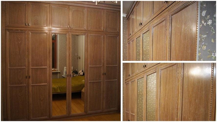 Шкаф для спальни из массива дуба