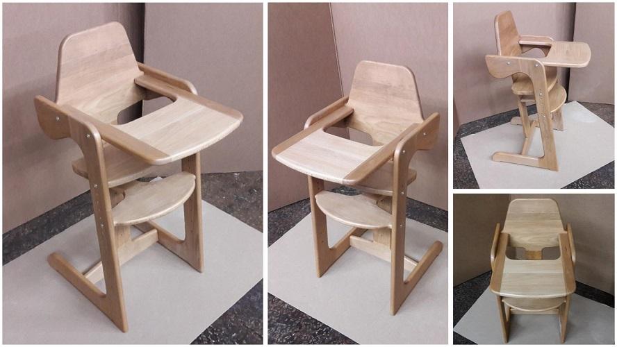 Детский стульчик для кормления из массива