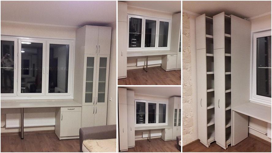 Мебель для детской с выкатными книжными шкафами